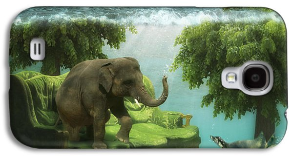 Photoshop Digital Galaxy S4 Cases - The green room Galaxy S4 Case by Martine Roch