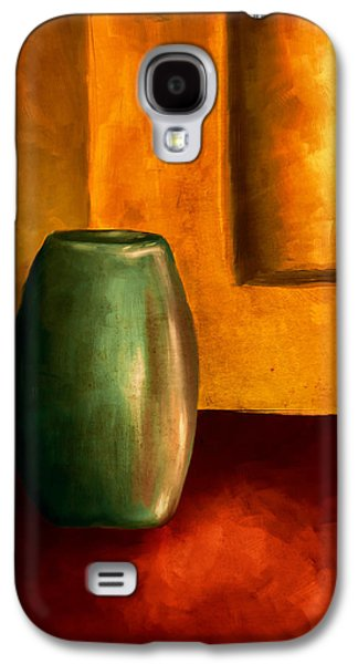 Bryant Paintings Galaxy S4 Cases - The Green Urn Galaxy S4 Case by Brenda Bryant