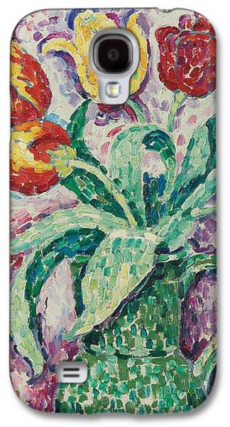 Tasteful Art Galaxy S4 Cases - The Green Vase Galaxy S4 Case by Paul Signac