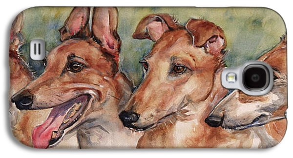 Greyhound Galaxy S4 Cases - The Greyhounds Galaxy S4 Case by Maria
