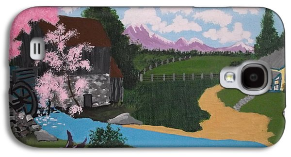 Grist Mill Paintings Galaxy S4 Cases - The Grist Mill Galaxy S4 Case by Lois D  Psutka