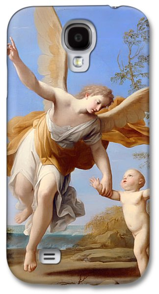 Christian work Paintings Galaxy S4 Cases - The Guardian Angel Galaxy S4 Case by Franceschini Marcantonio