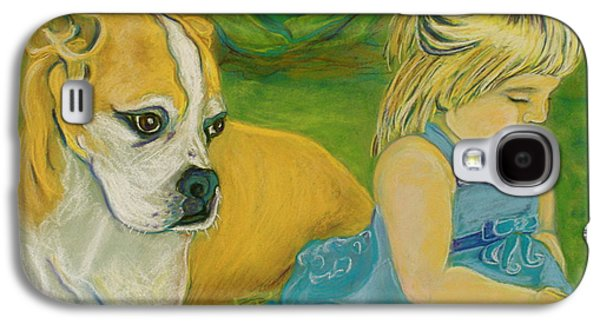 Boxer Pastels Galaxy S4 Cases - The Guardian Galaxy S4 Case by D Renee Wilson