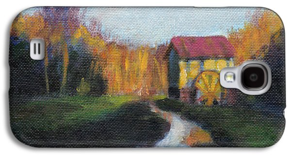 Grist Mill Paintings Galaxy S4 Cases - The Guilford County Mill Galaxy S4 Case by David Zimmerman