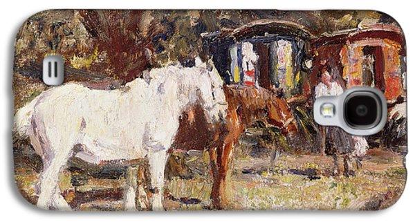 Equestrian Prints Galaxy S4 Cases - The Gypsy Encampment Galaxy S4 Case by Harry Fidler