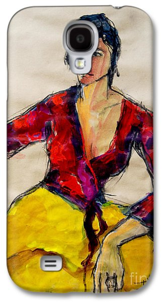 The Gypsy - Pia #2 - Figure Series Galaxy S4 Case by Mona Edulesco