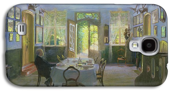 Sit-ins Paintings Galaxy S4 Cases - The Hall of the Manor House in Waltershof Galaxy S4 Case by Hans Olde