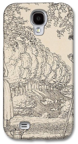 Illustrator Galaxy S4 Cases - The happy agreement Galaxy S4 Case by Konstantin Andreevic Somov