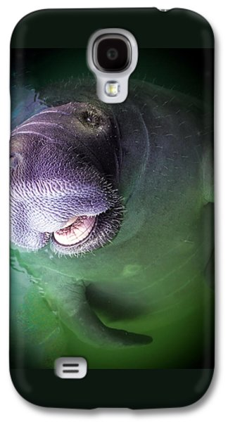 The Happy Manatee Galaxy S4 Case by Karen Wiles