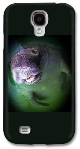Waterscape Galaxy S4 Cases - The Happy Manatee Galaxy S4 Case by Karen Wiles