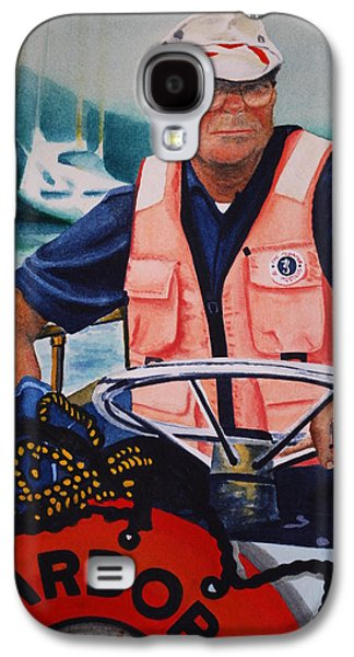 Police Art Paintings Galaxy S4 Cases - The Harbor Master Galaxy S4 Case by Joy Bradley