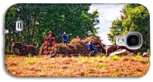 Amish Photographs Galaxy S4 Cases - The Harvest impasto Galaxy S4 Case by Steve Harrington