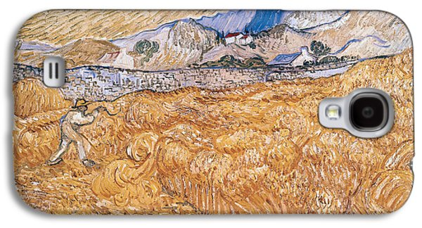 Laborers Galaxy S4 Cases - The Harvester Galaxy S4 Case by Vincent Van Gogh