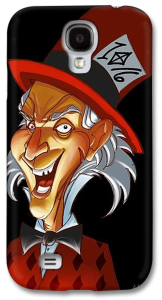 Mad Hatter Paintings Galaxy S4 Cases - The Hatta  Galaxy S4 Case by Anthony Mata