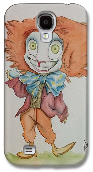 Mad Hatter Paintings Galaxy S4 Cases - The Hatter is Mad Galaxy S4 Case by Nico Bress
