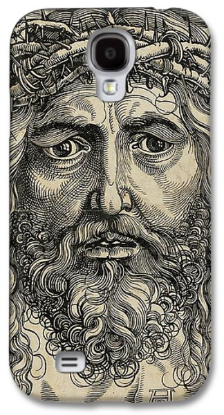 Bible Pyrography Galaxy S4 Cases - The Head of Christ Crowned with Thorns Galaxy S4 Case by Libellule Gallery
