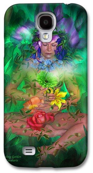 Energy Mixed Media Galaxy S4 Cases - The Healing Garden Galaxy S4 Case by Carol Cavalaris