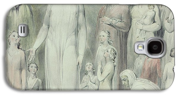 Blood Drawings Galaxy S4 Cases - The Healing of the Woman with an Issue of Blood Galaxy S4 Case by William Blake