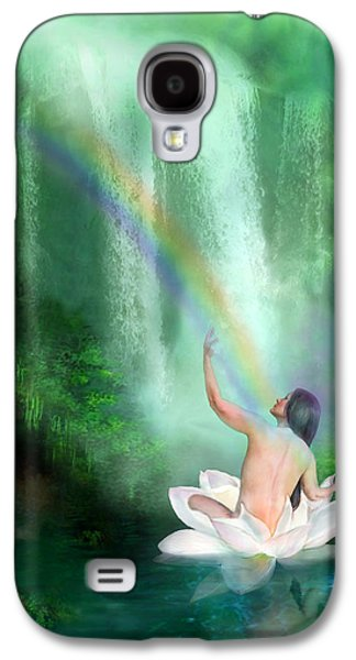 Healing Posters Galaxy S4 Cases - The Healing Place Galaxy S4 Case by Carol Cavalaris
