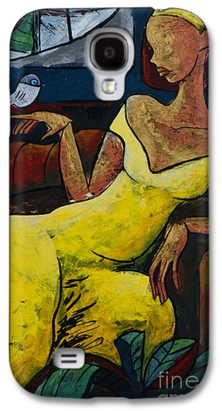 Sadness Paintings Galaxy S4 Cases - The Healing Process - From The Eternal WHYs series  Galaxy S4 Case by Elisabeta Hermann