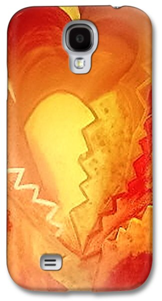 Etc. Paintings Galaxy S4 Cases - The Heart Galaxy S4 Case by Mary Wismer