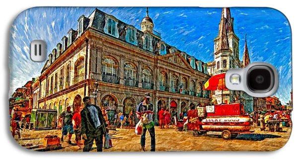 Lucky Dogs Galaxy S4 Cases - The Heart of New Orleans Galaxy S4 Case by Steve Harrington