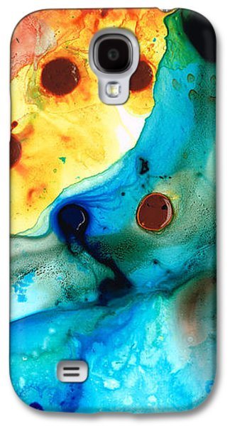 Abstracted Galaxy S4 Cases - The Hearts Desire - Colorful Abstract by Sharon Cummings Galaxy S4 Case by Sharon Cummings