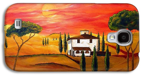 The Heat Of Tuscany Galaxy S4 Case by Christine Huwer