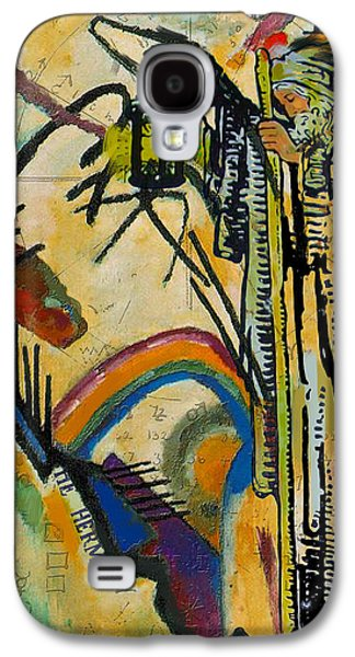 Astronomy Paintings Galaxy S4 Cases - The Hermit Tarot Card Galaxy S4 Case by Corporate Art Task Force