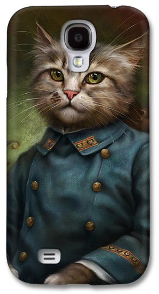 Recently Sold -  - Light Galaxy S4 Cases - The Hermitage Court Confectioner Apprentice Cat Galaxy S4 Case by Eldar Zakirov
