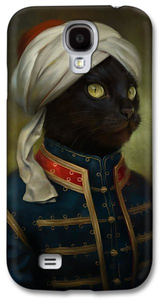 Cats Digital Art Galaxy S4 Cases - The Hermitage Court Moor Cat Galaxy S4 Case by Eldar Zakirov