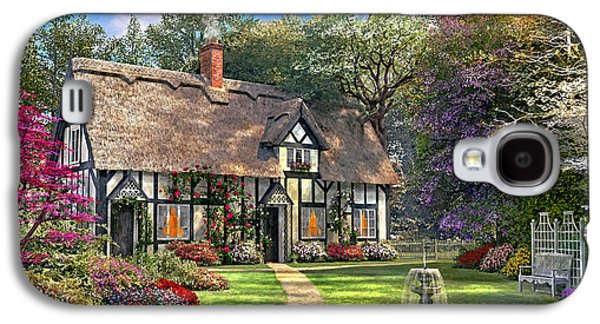Country Cottage Galaxy S4 Cases - The Hideaway Cottage Galaxy S4 Case by Dominic Davison