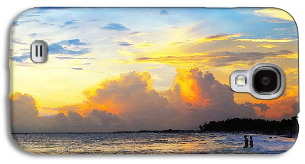 Sun Rays Galaxy S4 Cases - The Honeymoon - Sunset Art By Sharon Cummings Galaxy S4 Case by Sharon Cummings