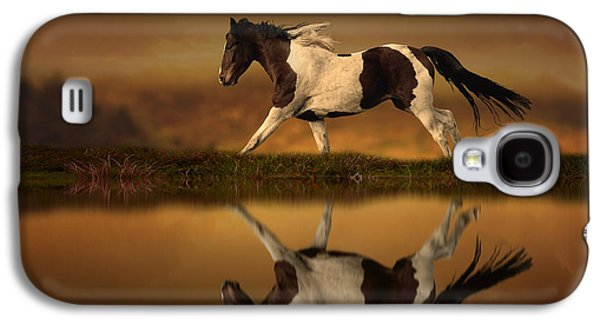 Horse Digital Galaxy S4 Cases - The Horses Journey Galaxy S4 Case by Jennifer Woodward