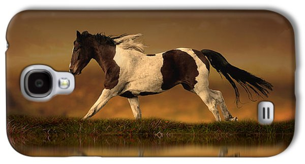 Running Digital Galaxy S4 Cases - The Horses Journey Galaxy S4 Case by Jennifer Woodward