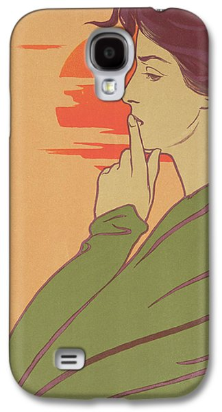 Setting Sun Galaxy S4 Cases - The Hour Of Silence Galaxy S4 Case by Henri Georges Jean Isidore Meunier