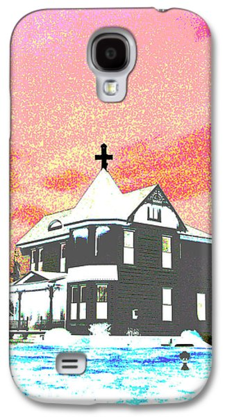Nature Abstracts Galaxy S4 Cases - The House of Haunted Hill Galaxy S4 Case by Jimi Bush
