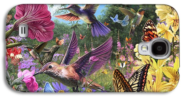 Harmonious Galaxy S4 Cases - The Hummingbird Garden Galaxy S4 Case by Steve Read