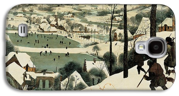 Dog In Landscape Galaxy S4 Cases - The Hunters in the Snow Galaxy S4 Case by Jan the Elder Brueghel