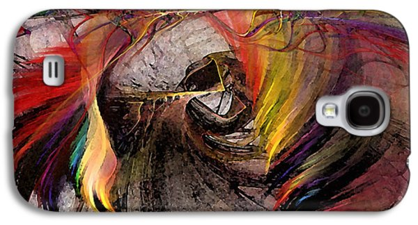 Mathematical Design Galaxy S4 Cases - The Huntress-Abstract Art Galaxy S4 Case by Karin Kuhlmann