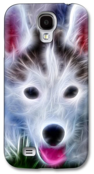Puppy Digital Galaxy S4 Cases - The Huskie Pup Galaxy S4 Case by Bill Cannon