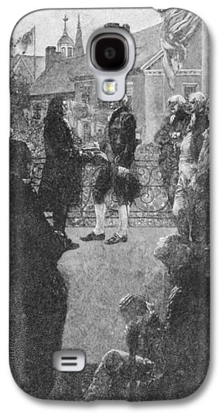 Presidential Galaxy S4 Cases - The Inauguration, Engraved By Francis Scott King, Illustration From Washingtons Inauguration Galaxy S4 Case by Howard Pyle