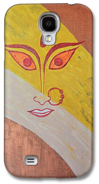 Goddess Durga Galaxy S4 Cases - The Invincible Goddess Galaxy S4 Case by Sonali Gangane