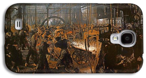 The Iron-rolling Mill Oil On Canvas, 1875 Galaxy S4 Case by Adolph Friedrich Erdmann von Menzel