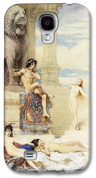 Statue Portrait Galaxy S4 Cases - The Ivory Flute Galaxy S4 Case by Guillaume Dubufe