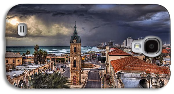 Clock Galaxy S4 Cases - the Jaffa old clock tower Galaxy S4 Case by Ronsho