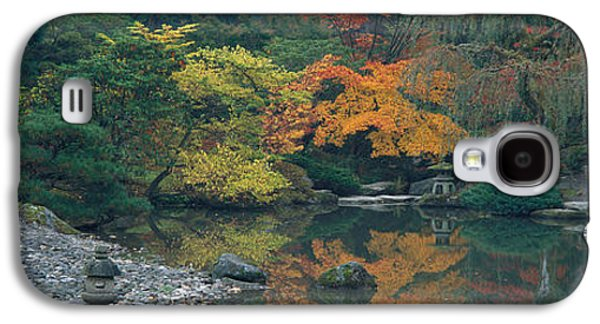 Green Foliage Galaxy S4 Cases - The Japanese Garden Seattle Wa Usa Galaxy S4 Case by Panoramic Images