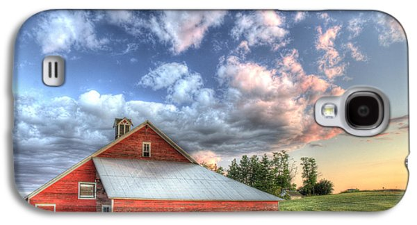 Contour Farming Galaxy S4 Cases - The Jenkins Red Barn Galaxy S4 Case by Latah Trail Foundation