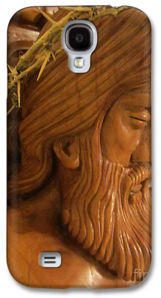 Relief Sculpture Reliefs Galaxy S4 Cases - The Jesus Christ Sculpture Wood Work Wood Carving Poplar Wood Great For Church 2 Galaxy S4 Case by Persian Art