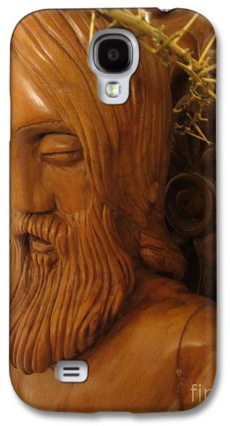 Relief Sculpture Reliefs Galaxy S4 Cases - The Jesus Christ Sculpture Wood Work Wood Carving Poplar Wood Great For Church 3 Galaxy S4 Case by Persian Art